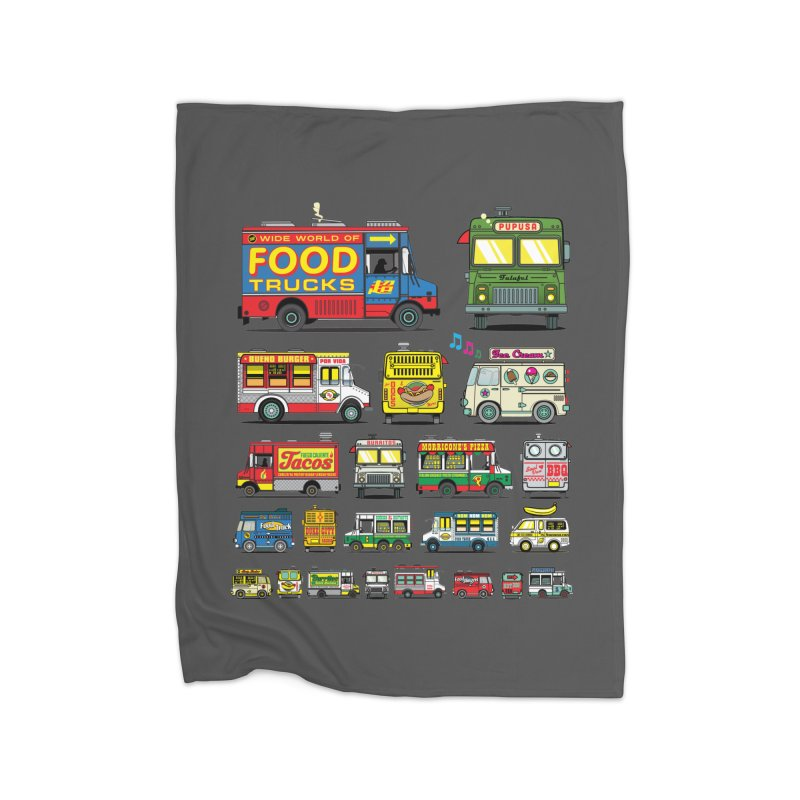 Food Truck Home Fleece Blanket Blanket by Jesse Philips' Artist Shop