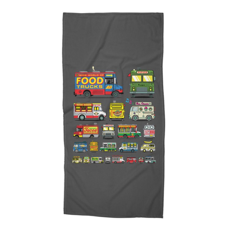 Food Truck Accessories Beach Towel by Jesse Philips' Artist Shop
