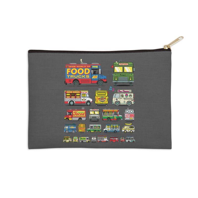 Food Truck Accessories Zip Pouch by Jesse Philips' Artist Shop