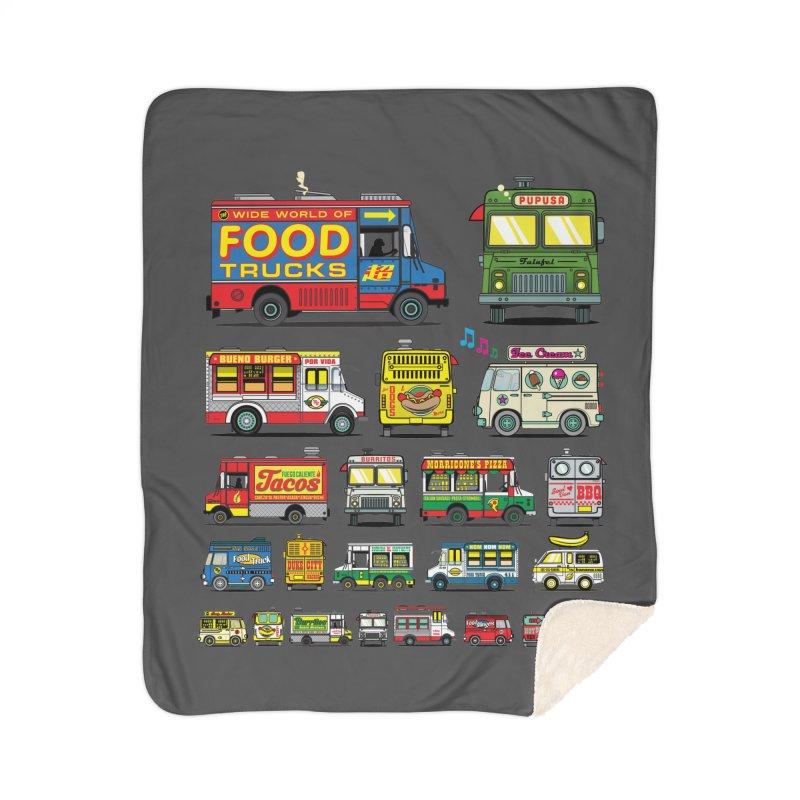 Food Truck Home Sherpa Blanket Blanket by Jesse Philips' Artist Shop