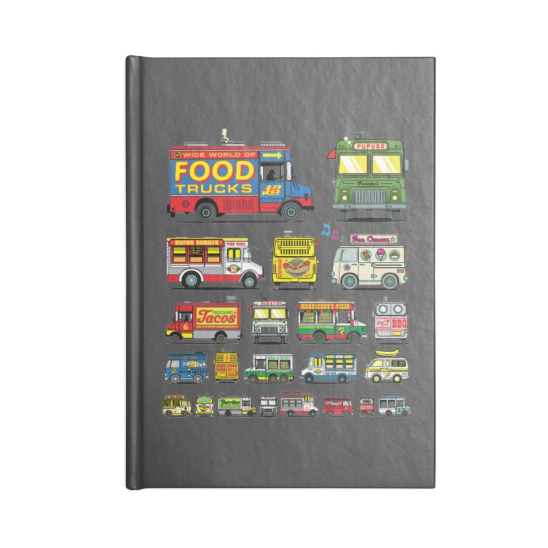Food Truck Accessories Notebook by Jesse Philips' Artist Shop