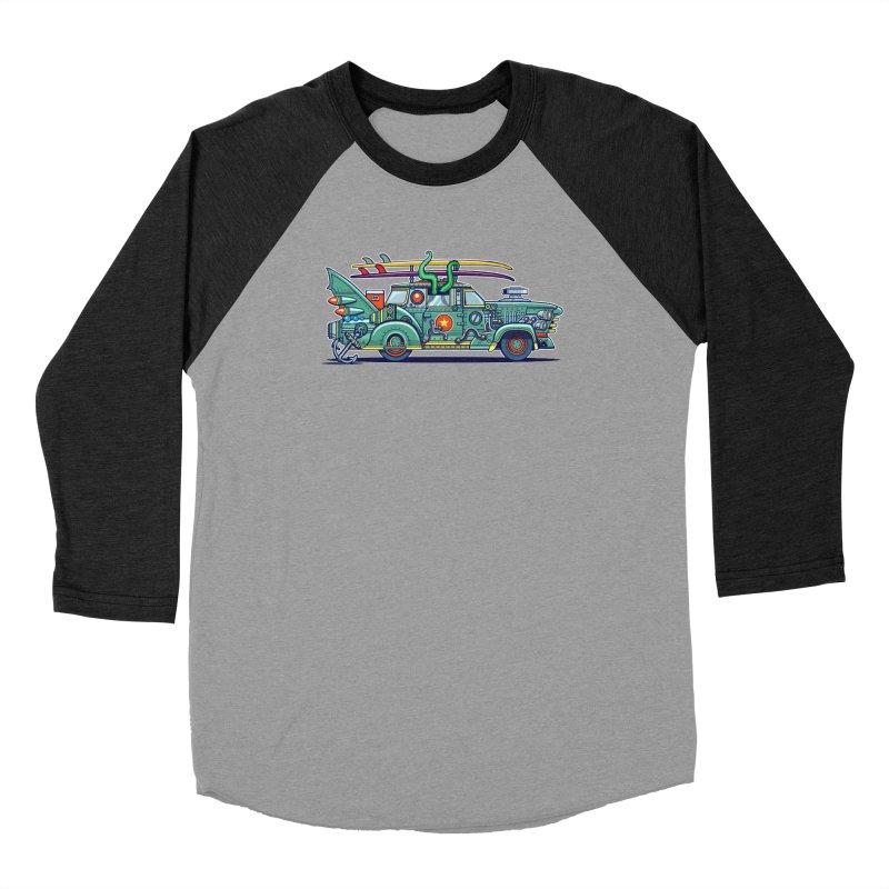 Surf's Up Men's Baseball Triblend Longsleeve T-Shirt by Jesse Philips' Artist Shop