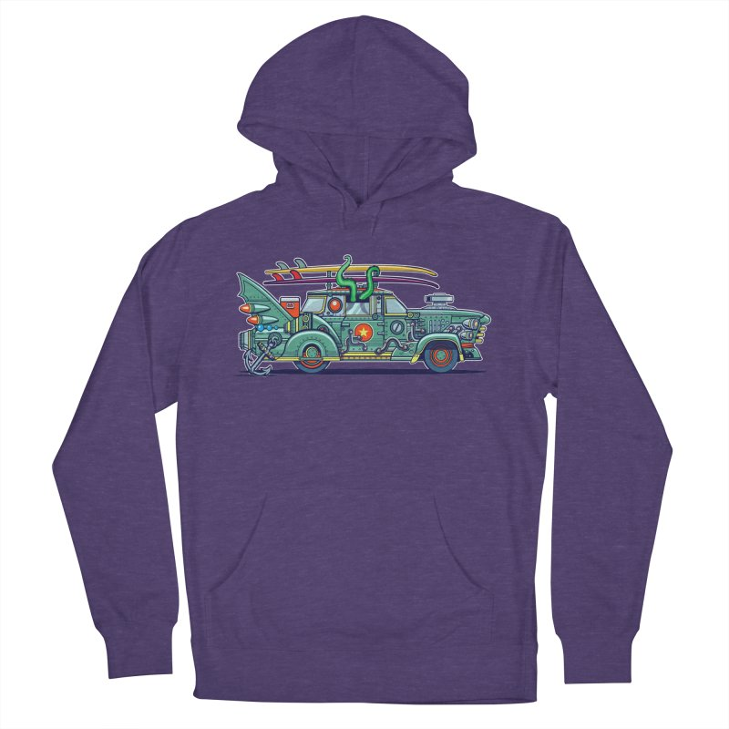 Surf's Up Men's French Terry Pullover Hoody by Jesse Philips' Artist Shop