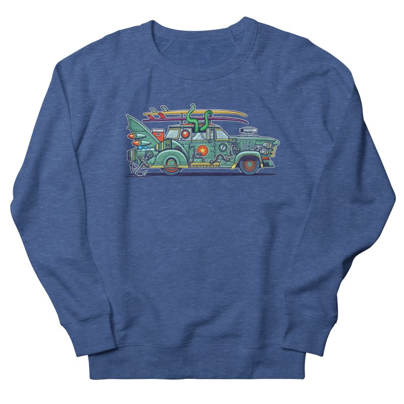 Surf's Up Men's Sweatshirt by Jesse Philips' Artist Shop