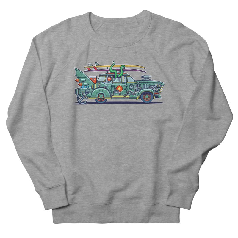Surf's Up Men's French Terry Sweatshirt by Jesse Philips' Artist Shop