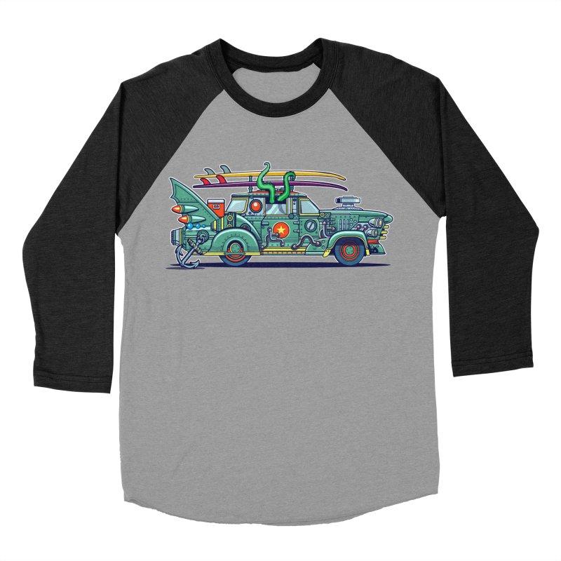 Surf's Up Women's Baseball Triblend Longsleeve T-Shirt by Jesse Philips' Artist Shop