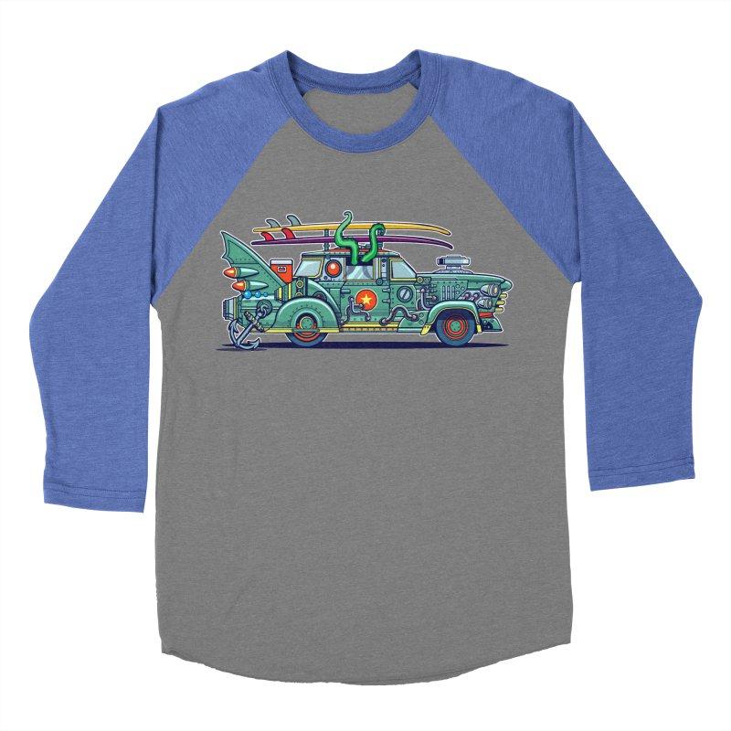 Surf's Up Men's Baseball Triblend T-Shirt by Jesse Philips' Artist Shop