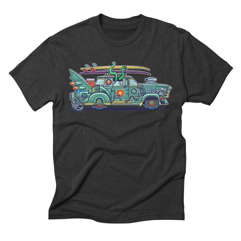 Surf's Up Men's Triblend T-shirt by Jesse Philips' Artist Shop