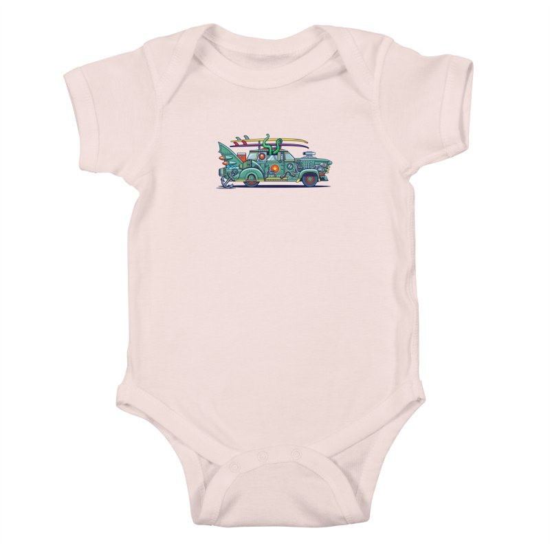 Surf's Up Kids Baby Bodysuit by Jesse Philips' Artist Shop