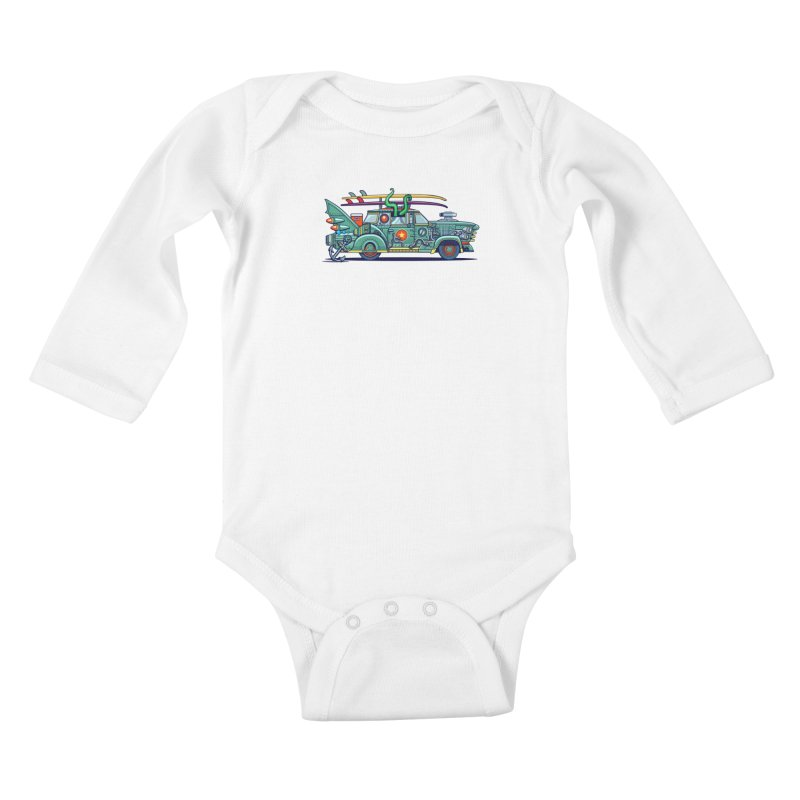 Surf's Up Kids Baby Longsleeve Bodysuit by Jesse Philips' Artist Shop