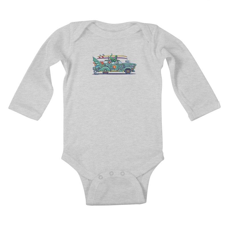 Surf's Up Kids Baby Longsleeve Bodysuit by Jesse Philips' Artist Shop