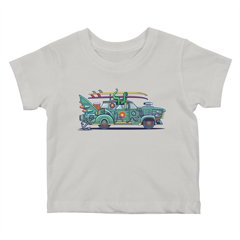 Surf's Up Kids Baby T-Shirt by Jesse Philips' Artist Shop