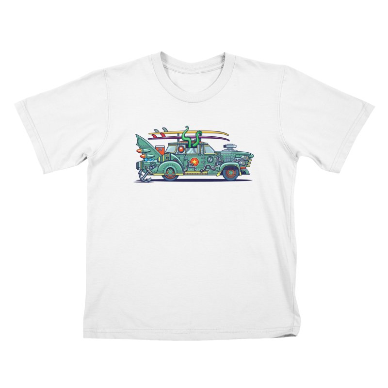 Surf's Up Kids T-Shirt by Jesse Philips' Artist Shop