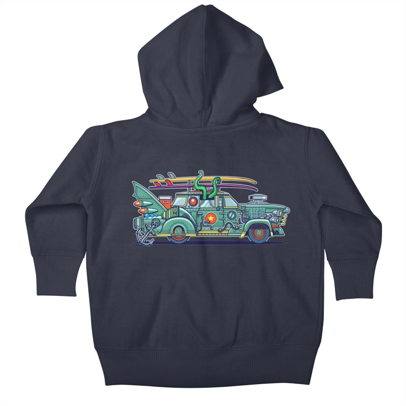 Surf's Up Kids Baby Zip-Up Hoody by Jesse Philips' Artist Shop