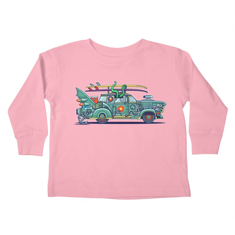 Surf's Up Kids Toddler Longsleeve T-Shirt by Jesse Philips' Artist Shop