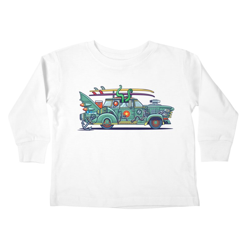 Surf's Up Kids Toddler Longsleeve T-Shirt by Jesse Philips' Artist Shop