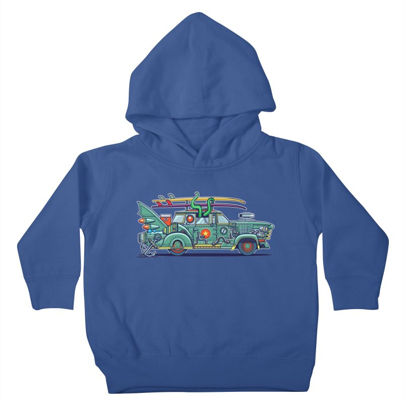 Surf's Up Kids Toddler Pullover Hoody by Jesse Philips' Artist Shop