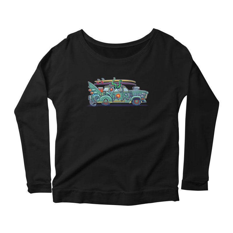 Surf's Up Women's Scoop Neck Longsleeve T-Shirt by Jesse Philips' Artist Shop