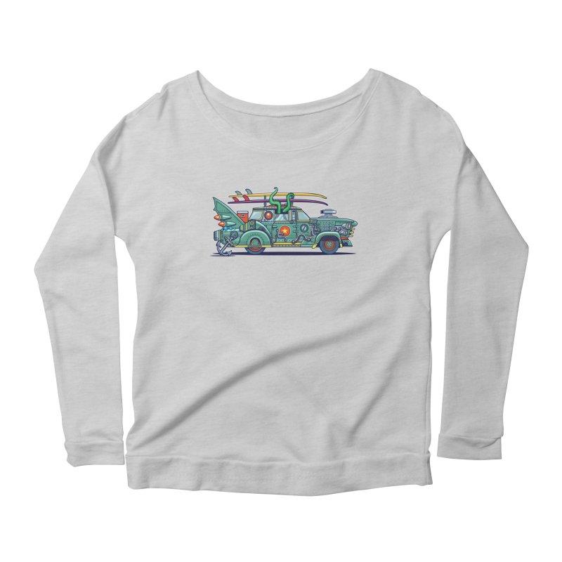 Surf's Up Women's Scoop Neck Longsleeve T-Shirt by Jesse Philips' Artist Shop