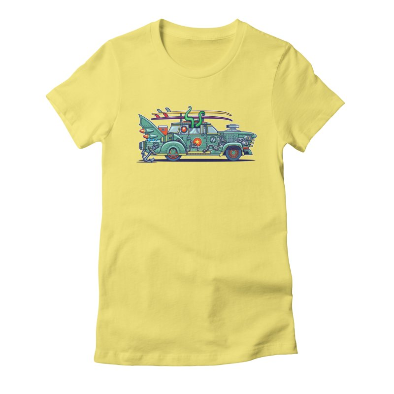 Surf's Up Women's Fitted T-Shirt by Jesse Philips' Artist Shop