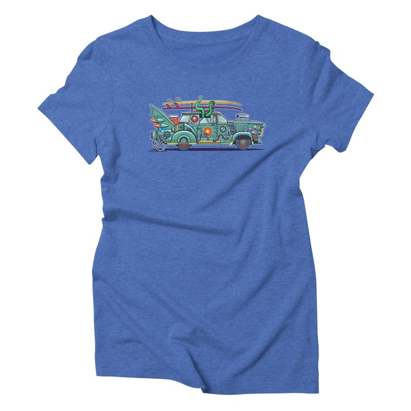 Surf's Up Women's Triblend T-Shirt by Jesse Philips' Artist Shop