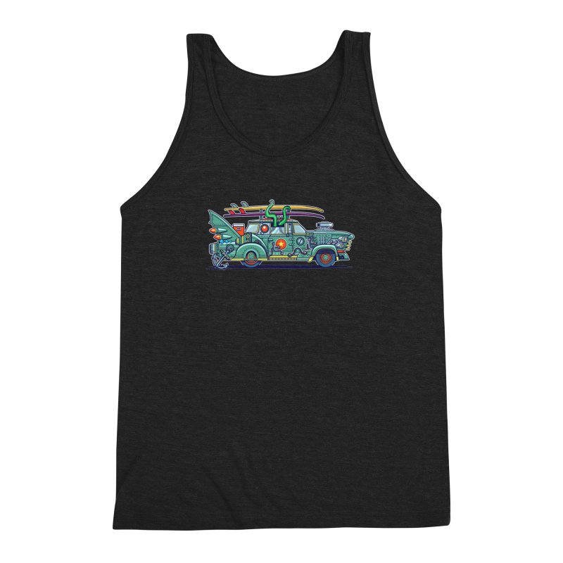 Surf's Up Men's Triblend Tank by Jesse Philips' Artist Shop