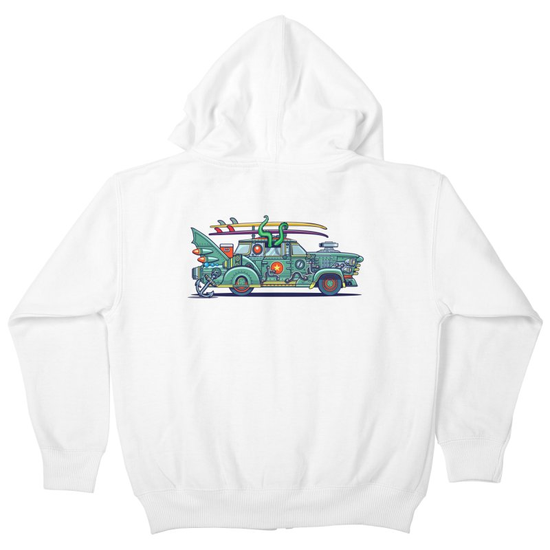 Surf's Up Kids Zip-Up Hoody by Jesse Philips' Artist Shop