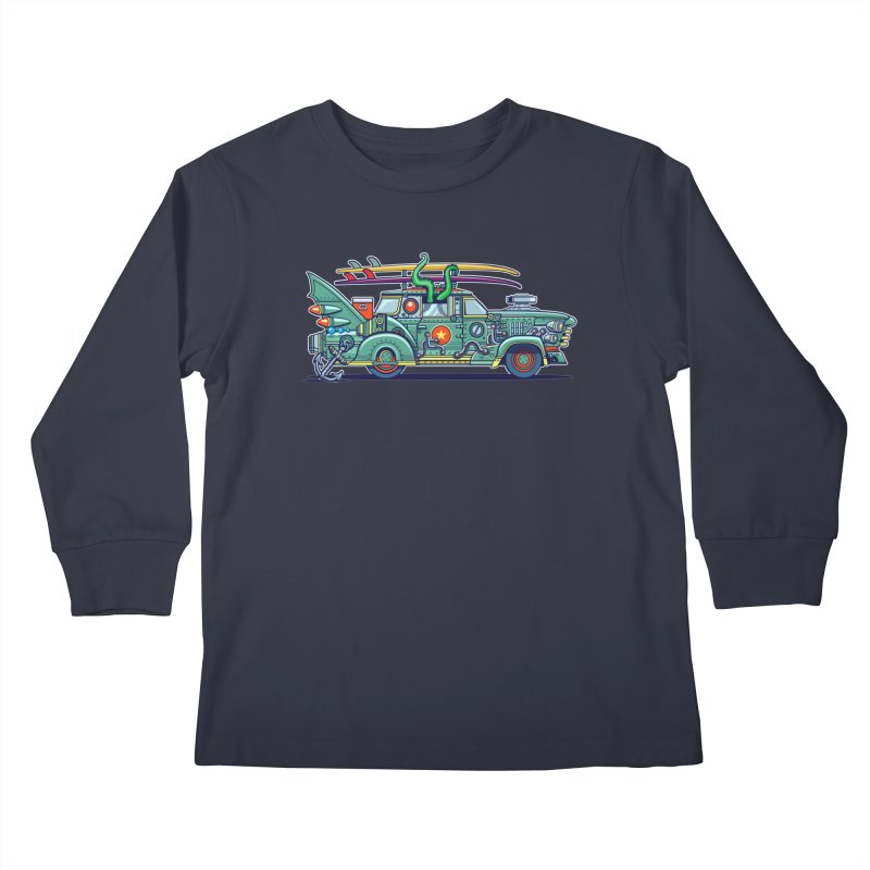 Surf's Up Kids Longsleeve T-Shirt by Jesse Philips' Artist Shop