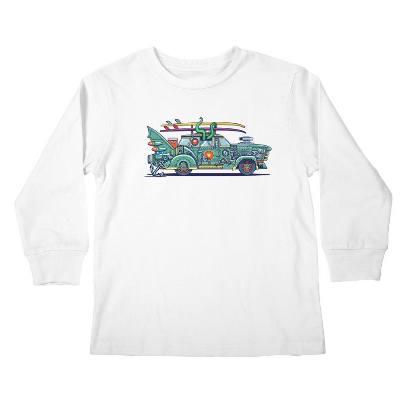 Surf's Up Kids Longsleeve T-Shirt by Jesse Philips' Artist Shop
