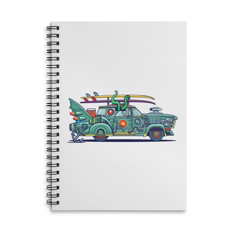 Surf's Up Accessories Lined Spiral Notebook by Jesse Philips' Artist Shop