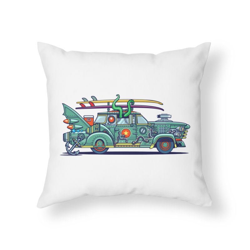 Surf's Up Home Throw Pillow by Jesse Philips' Artist Shop