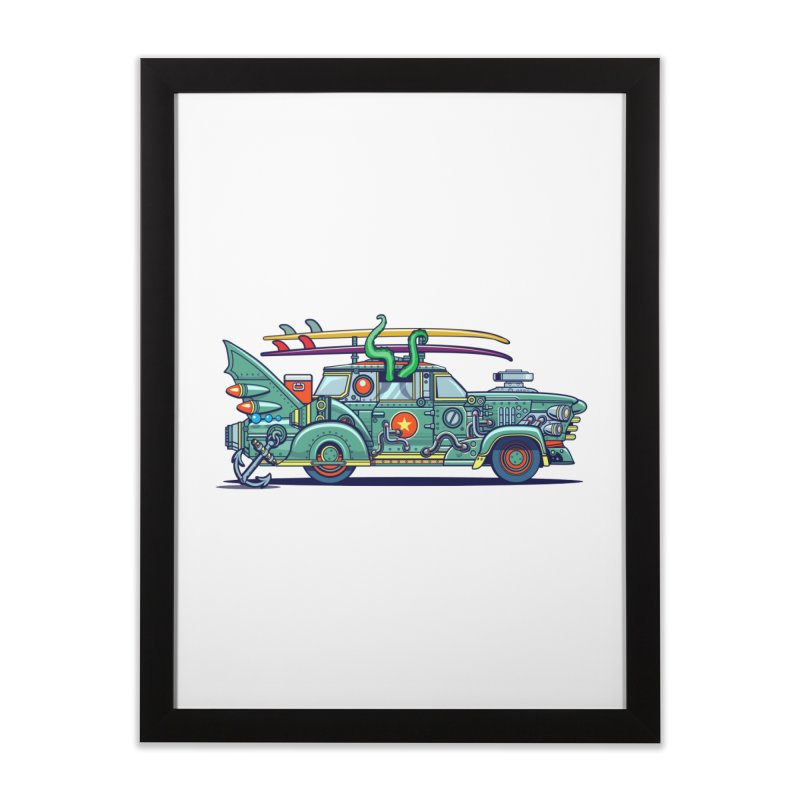 Surf's Up Home Framed Fine Art Print by Jesse Philips' Artist Shop