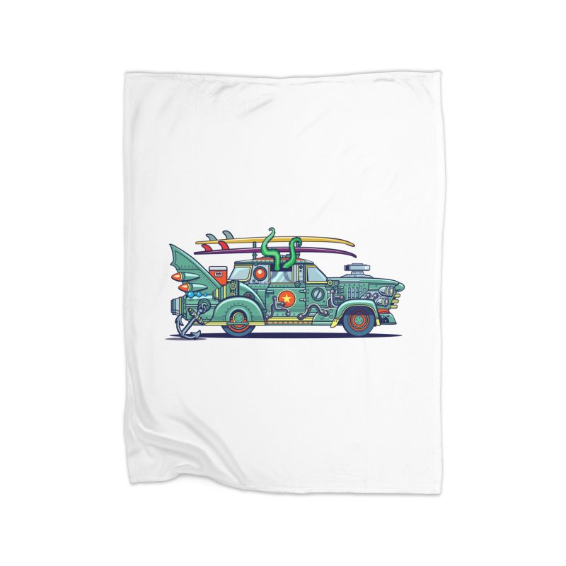 Surf's Up Home Fleece Blanket Blanket by Jesse Philips' Artist Shop