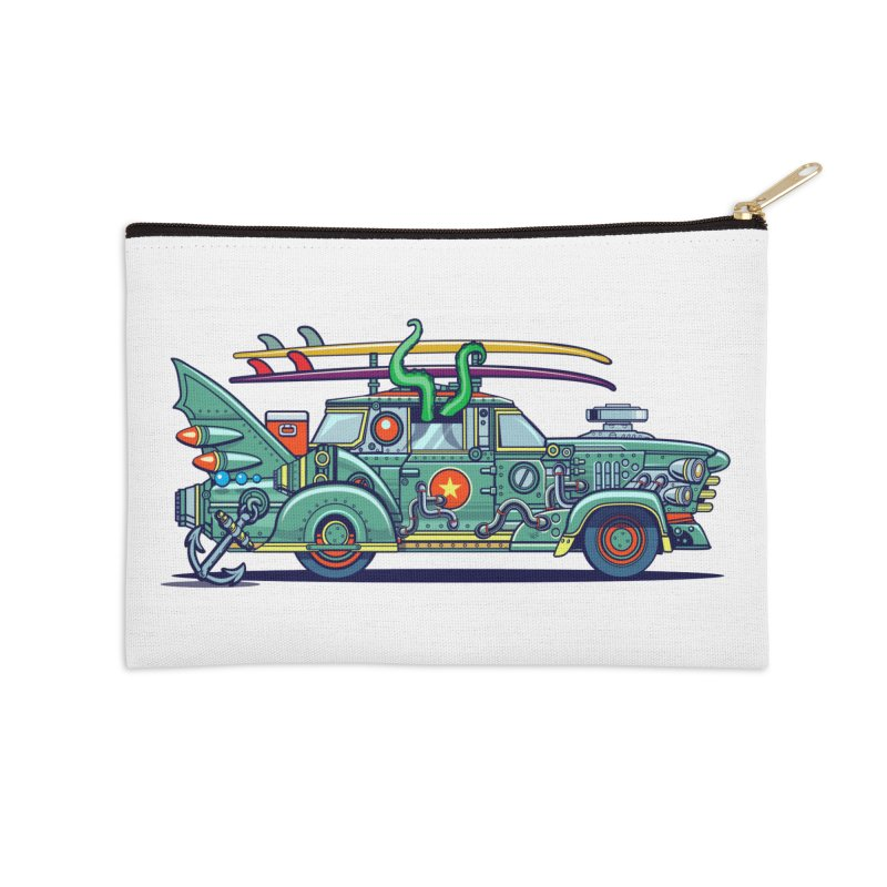 Surf's Up Accessories Zip Pouch by Jesse Philips' Artist Shop