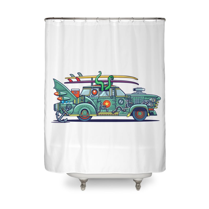 Surf's Up Home Shower Curtain by Jesse Philips' Artist Shop