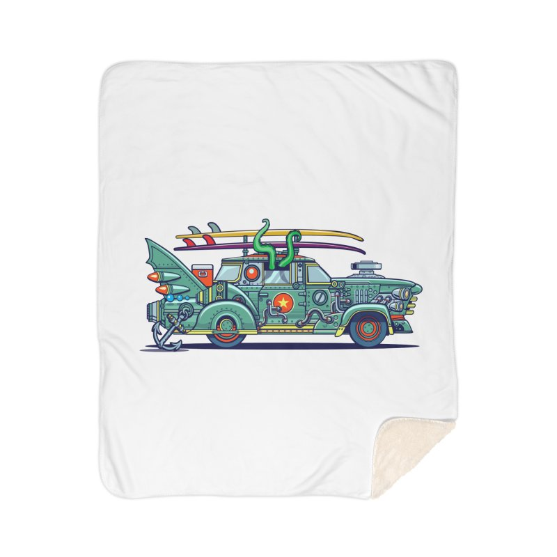 Surf's Up Home Sherpa Blanket Blanket by Jesse Philips' Artist Shop