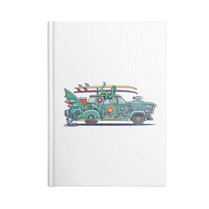 Surf's Up Accessories Lined Journal Notebook by Jesse Philips' Artist Shop