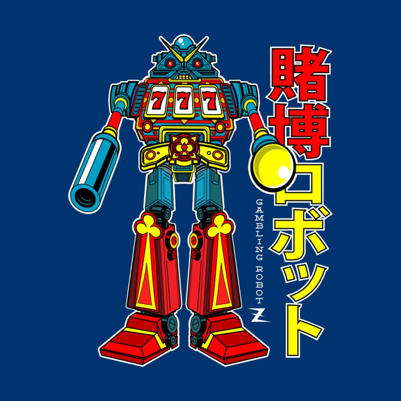 Super Slot-Bot Gamblor Men's T-Shirt by Jesse Philips' Artist Shop
