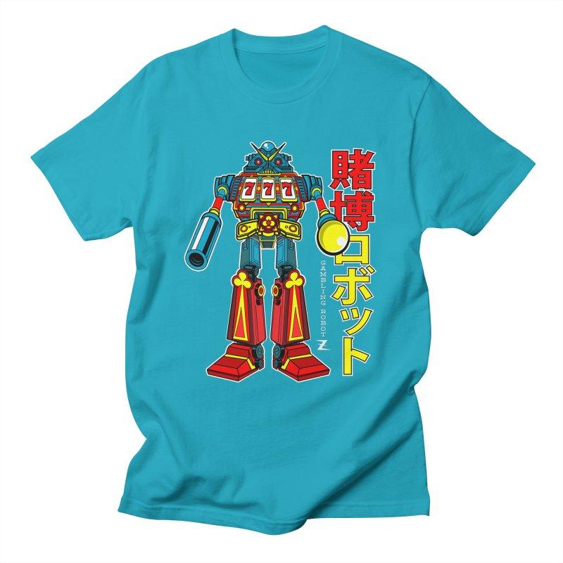 Super Slot-Bot Gamblor Men's T-Shirt by Jesse Philips' Artist Shop