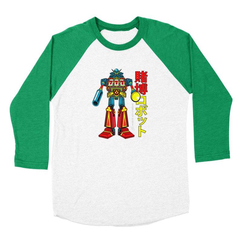 Super Slot-Bot Gamblor Men's Baseball Triblend Longsleeve T-Shirt by Jesse Philips' Artist Shop