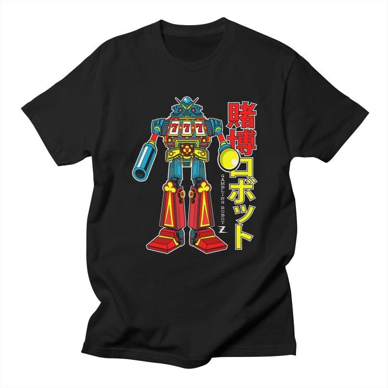 Super Slot-Bot Gamblor Men's Regular T-Shirt by Jesse Philips' Artist Shop