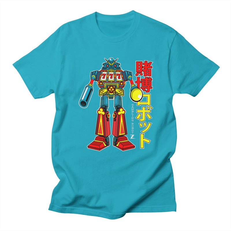 Super Slot-Bot Gamblor Men's Regular T-Shirt by Jesse Philips' Artist Shop