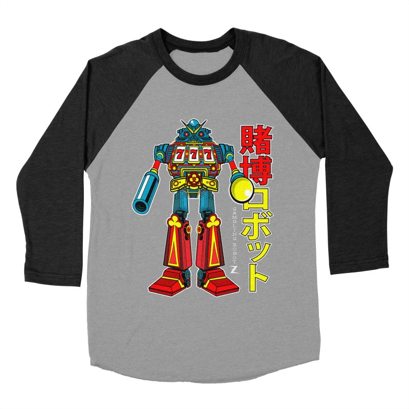Super Slot-Bot Gamblor Men's Baseball Triblend Longsleeve T-Shirt by Jesse Philips' Artist Shop