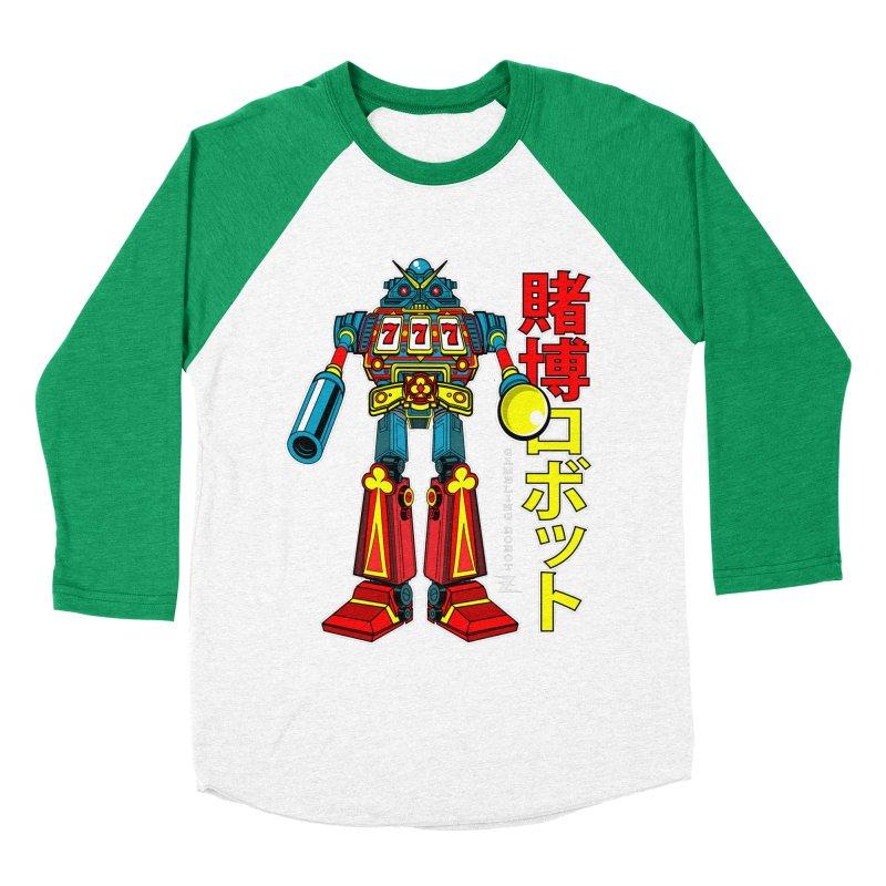 Super Slot-Bot Gamblor Men's Baseball Triblend T-Shirt by Jesse Philips' Artist Shop