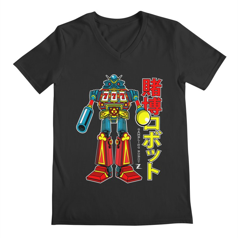 Super Slot-Bot Gamblor Men's V-Neck by Jesse Philips' Artist Shop
