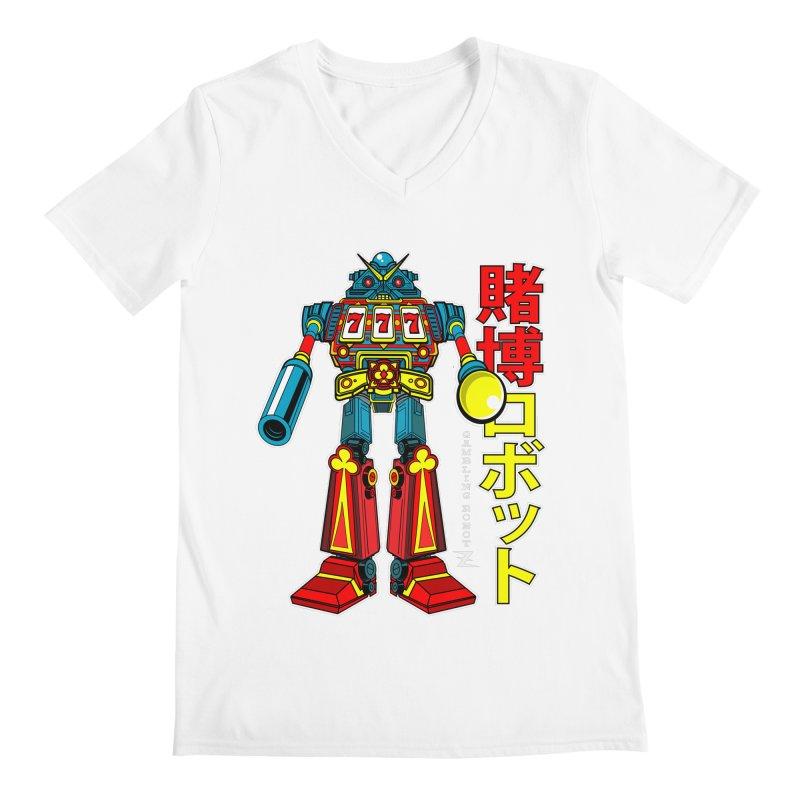 Super Slot-Bot Gamblor Men's V-Neck by Jesse Philips' Artist Shop