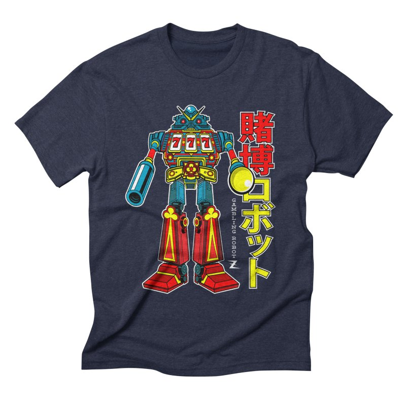 Super Slot-Bot Gamblor Men's Triblend T-shirt by Jesse Philips' Artist Shop