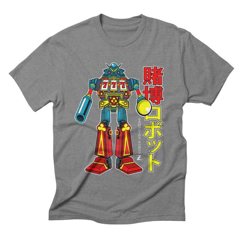 Super Slot-Bot Gamblor Men's Triblend T-shirt by Jesse Philips' Artist Shop