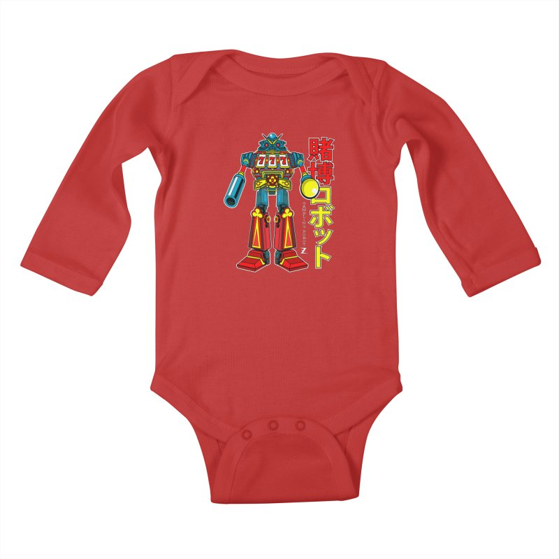 Super Slot-Bot Gamblor Kids Baby Longsleeve Bodysuit by Jesse Philips' Artist Shop