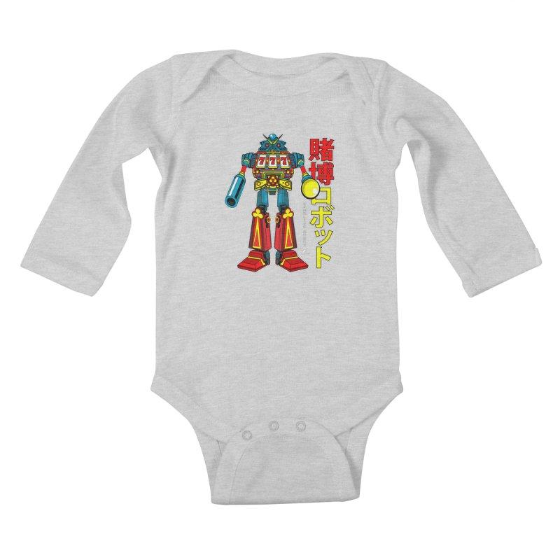 Super Slot-Bot Gamblor Kids Baby Longsleeve Bodysuit by Jesse Philips' Artist Shop